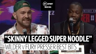 Best bits from Deontay Wilder and Tyson Fury's press conference | #WilderFury2