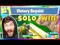 MY FIRST EVER SOLO WIN IN FORTNITE BATTLE ROYALE! #1 VICTORY ROYALE!