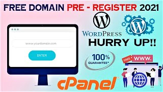 Free Domain 2021 Pre-Register Now !! Hurry Up