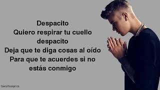 Justin Bieber - Despacito (Lyrics) ft. Luis Fonsi, Daddy Yankee