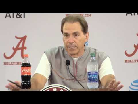 Nick Saban Press Conference before Tennessee