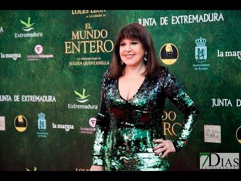 """ALFOMBRA ROJA DE """"EL MUNDO ENTERO"""" EN BADAJOZ"""