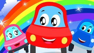 Rainbow Colors Song | Little Red Car Cartoons For Babies