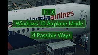 How to Turn Off Windows 10 Airplane Mode ( 4 Ways )