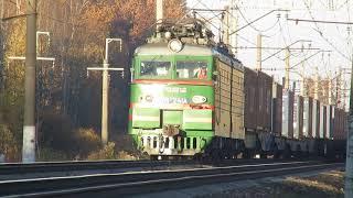 ВЛ11М-029Б\032, ВЛ11М-241 с грузовыми поездами перегон Бекасово 1-Нара 15.10.2018