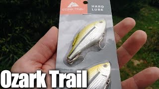 Bass Fishing With Cheap Fishing Lures From WalMart - Ozark Trail