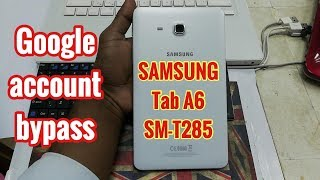 Removing Samung A6 Tab Previous Google Account | FRP Bypass