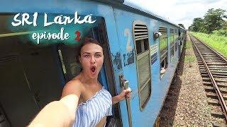 Чуть не выпала с поезда. Шри-Ланка, Канди.