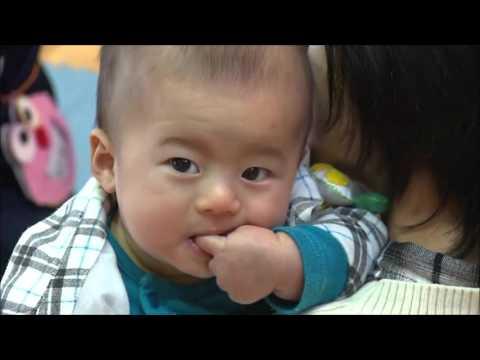 高浦中学校での「いのちを包む」赤ちゃんとの体験授業