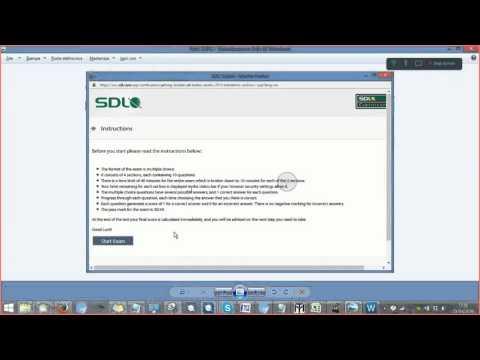 2015 SDL Certification Exam - YouTube