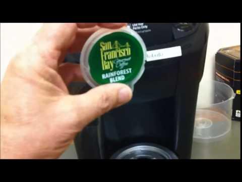 How to brew San Francisco Bay Gourmet Coffee in a  Keurig Vue coffee machine.