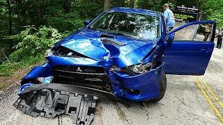 Mitsubishi Evolution Crash Moments!