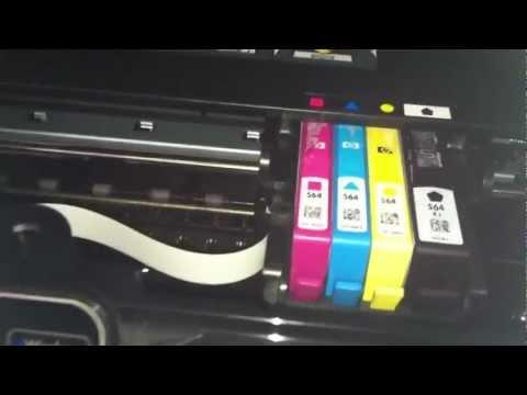 HP Photosmart 6525 6520 Printer Not Printing Black Ink - HP