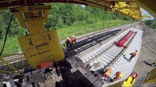 Капитальный ремонт ж.д. часть 2/8 -  Укладка новых решеток / Track repair 2/8 - Laying new track