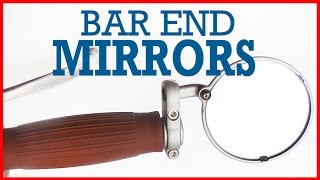 how to install custom motorcycle bar end mirrors ver II