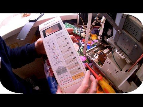Panasonic свч печь, неисправность клавиатуры, сенсорная панель