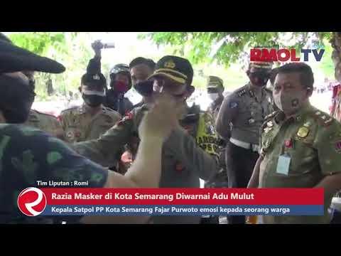 Razia Masker di Kota Semarang Diwarnai Adu Mulut