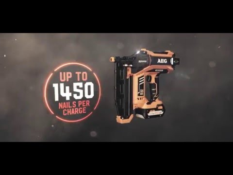 16Ga & 18Ga Brushless Nail Gun - AEG Powertools