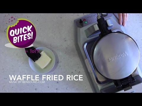 Turn Leftover Rice Into Crispy, Tasty Rice Waffles
