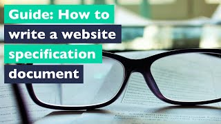 How to write a website specification document or brief
