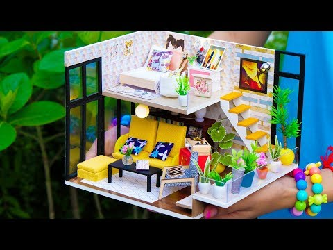 DIY Sweet Home Miniature Dollhouse Modern Decoration