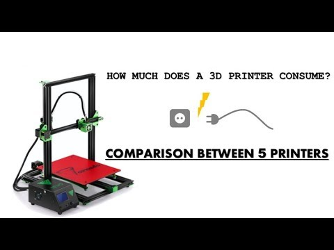 How much does a 3D PRINTER consume? COMPARISON BETWEEN 5 PRINTERS