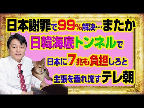 #999 日本があやまれば99パーセントは解決と韓国…またか。日韓海底トンネルで日本が7兆も負担しろを垂れ流すテレ朝「ワイドスクランブル」 みやわきチャンネル(仮)#1149Restart999