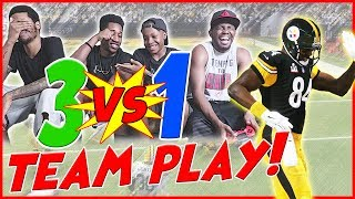 THE 3v1 IMPOSSIBLE MADDEN CHALLENGE! - Madden 17 Local Teamplay Gameplay