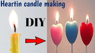 Heartin Candle Making||craft Ideas To Make In Lockdown||heartshape Candles Making At Home..