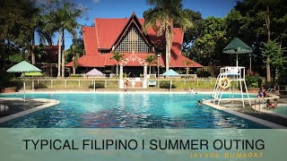 TYPICAL FILIPINO SUMMER OUTING part 1 Chilling at resorts - Video Youtube