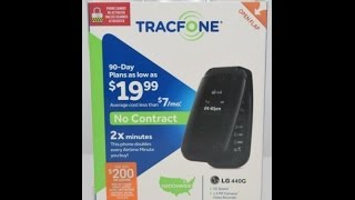 The LG 440G Cell Phone By Tracfone Review And Unboxing