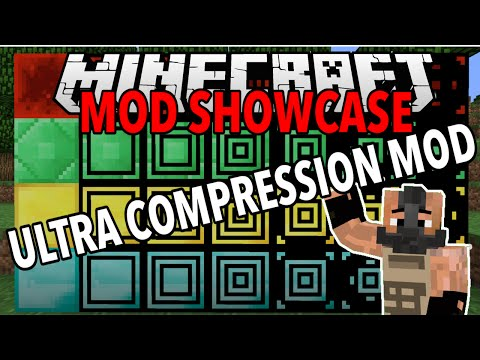 Ultra Compression Mod (Easy Mass Storage) : Minecraft Mod Showcase