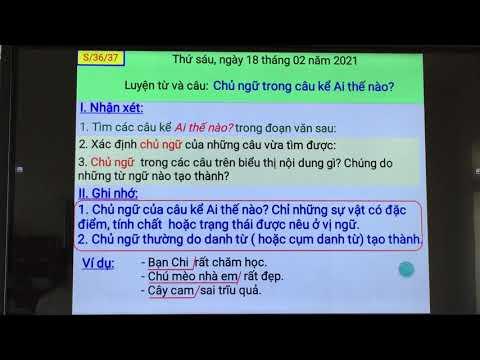 Tiết dạy Tiếng Việt lớp 4: Chủ đề trong câu kể Ai thế nào? trường Tiểu học Nam Chính