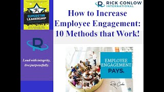 How To Increase Employee Engagement: 10 Methods That Work-Leadership Training