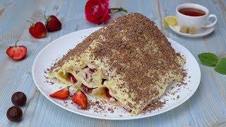 Блинный торт с клубникой - Рецепты от Со Вкусом