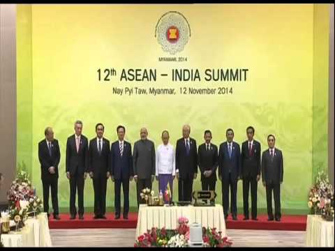 PM Modi with the Heads of State of 12th ASEAN-India Summit, in Nay Pyi Taw, Myanmar
