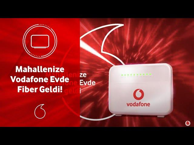 Mahallenize Vodafone Evde Fiber Geldi!