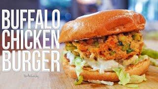 Buffalo Chicken Burger   SAM THE COOKING GUY