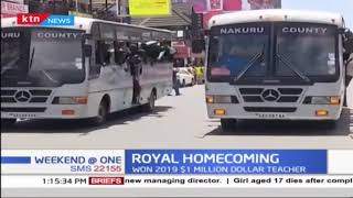 Royal Homecoming: 1 million dollar teacher arrives in Nakuru