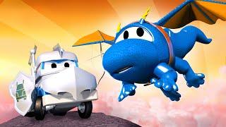Детские мультики с грузовиками - Рыцарь грузовик 2 - Трансформер Карл в Автомобильный Город 🚚 ⍟