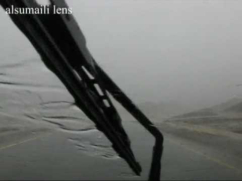 أمطار طريق القريتين بإزكي 23 يوليو 2009
