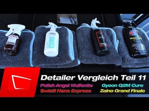 POLISHANGEL Wulfenite Gyeon Cure Zaino Grand Finale Swissvax - Detailer Vergleich Test #11