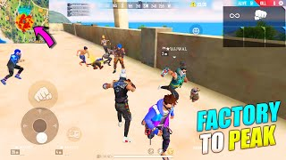 Factory To Peak Booyah Journey | King Of Factory Fist Fight P.K. GAMERS | Garena Free Fire