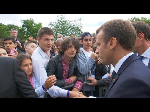 'Call me Mr. President': Macron dresses down cheeky teen
