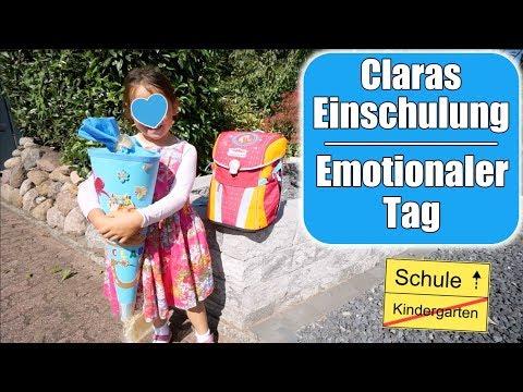 Claras Einschulung 🎒 Schultüte auspacken! Emotionaler Tag für Mama   Familienleben   Mamiseelen