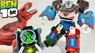 ТОБОТЫ нашли часы БЕН 10 - Тоботы Трансформируются в динозавра и игрушки Бен Тен для мальчиков