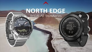 The best NORTH EDGE outdoor watch offical review---GAVIA and APACHE-(spanish)