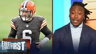 Baker Mayfield isn't ready to lead the Browns to Super Bowl — Brandon | NFL | FIRST THINGS FIRST