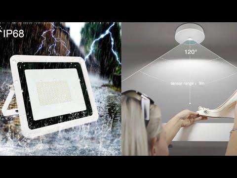 LED прожектор и LED светильник с датчиком движения с сайта алиэкспресс