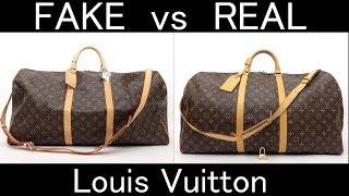 FAKE Vs REAL. Louis Vuitton Monogram Keepall Bandouliere 60